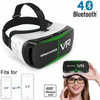 Greatever Bluetooth4.0 3D VR Glasses Virtual Reality Headset VR Box with Adjusta