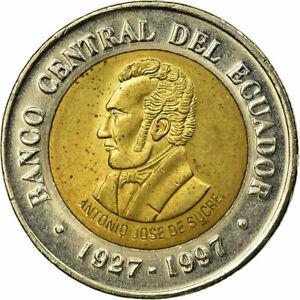 [#589156] Coin, Ecuador, 70th Anniversary - Central Bank1997, 100 Sucres, 1997