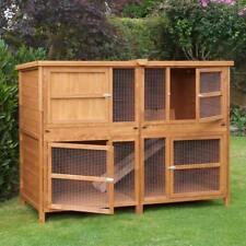 6ft XL Chartwell Rabbit Hutch Guinea Pig Deluxe Pet House Garden Double Decker