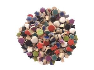 Micro Odd-shaped Ceramic Mosaic Tiles For Crafts Inserts Hand Art  150 Pieces