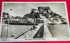 Raphael Tuck Printed Photograph Postcard Of Mont Orgueil Castle Gorey Jersey