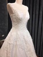 sleeveless beading ballgown princess wedding dress size 8