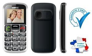 Téléphone Mobile Portable Désimlocké Sénior Touche SOS MaxCom MM461BB / MM461
