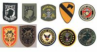 Military Patches Army Navy Marines POW MIA Biker Motorcycle Iron-On Patch
