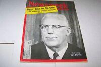 APRIL 9 1962 NEWSWEEK magazine CHIEF JUSTICE - WARREN