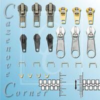 ZIPPER REPAIR KIT - Stops, sliders, spirals & instructions - Fix your own zip