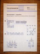 Wiring diagram/Scheme for Telefunken MC 1,ORIGINAL