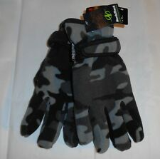 NordicTrack Mens Fleece Thinsulate 40 Gram Camouflage Gloves Black M/L NWT