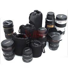 4 unidades TALLA XL L M&S Neopreno Blando cámara DSLR Objetivo Bolsa-funda