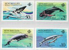SEYCHELLES SEYCHELLEN 1984 571-74 555-58 Whale Conservation Schutz der Wale MNH
