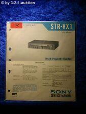 Sony Service Manual STR VX1 Receiver (#0032)