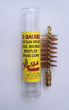 Pro Shot 12 Gauge Shotgun / Slug Gun Bore Brush Phos Bronze Bristles Brass Core