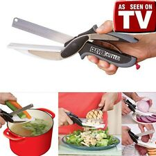 Hot Clever Cutter 2in1 Knife & Cutting Board Scissors Professional As Seen On TV