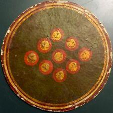 18th Century Artisan Ganjifa India Maratha Empire Painted Playing Cards Single