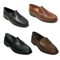 Lucini Mens Smart Leather Casual Party Loafer Slip on Shoes Summer Shoes
