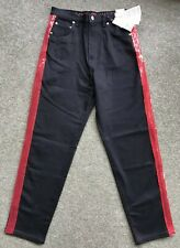Womens Tommy Hilfiger Gigi Hadid Jeans, Size 28/32, Black w/Red Sequin, RRP £155