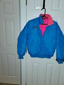 Columbia Down Radial Sleeve Ski Jacket Blue/Coral Medium women's