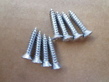 8 NEW SILL PLATE SCREWS! - FOR 50's-70's CARS AND TRUCKS! SHOW QUALITY! NICE!