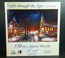 Sunsout Jigsaw Puzzle Jim Hansel Faith Through The Ages Church Cars 550 Pieces