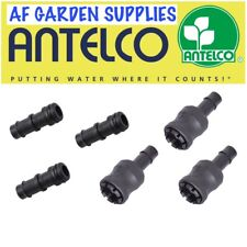 Snap-on Connector Set for 13mm Garden Irrigation/Hydroponics Pipe/Tube,3 pairs