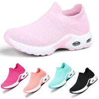 Women's Air Cushion Sneakers Sport Running Mesh Walking Slip-On Shoes Gym Size