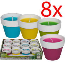SET OF 8 CITRONELLA CANDLES WAX MOSQUITO FLY INSECT REPELLENT FOR HOME OUTDOOR