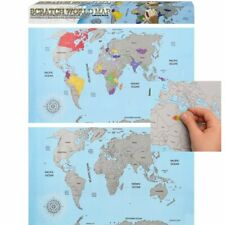 Large Scratch Off World Map Poster Size 88 x 52 Personalized Travel Log Gift UK