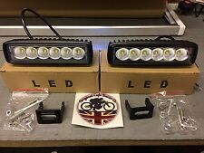 Land Rover Defender Daytime Running Light DRL x 2 LED to Fit in or under Bumper