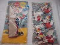 2 Rare Paper Clown Items - Circa 1950's/60's - Happy Birthday & Table Decoration