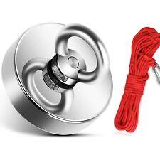 Magnete al Neodimio Potente da 170 kg 60 mm per Pesca Rotonda con Corda da 20m