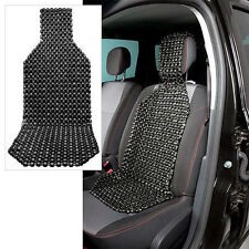 Wood Beaded Car Seat Cushion, Car Seat Cover Massager, Black, US Seller