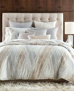 Hotel Collection FULL/QUEEN Comforter Lateral Abstract Pima Cotton J07030
