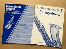 Lot of (2) Alto Saxophone Instruction Music Song Books