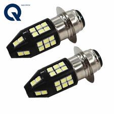 2 Pack Headlights For Yamaha Raptor 700 700R 06-18 White 6000K LED Bulb H6M CA