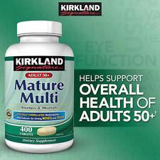 Kirkland Signature Adults 50+ Mature Multi 400 Tablets