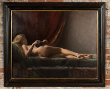 "Maureen Hyde ""A Tranquil Moment Nude Female""Original Oil Painting"