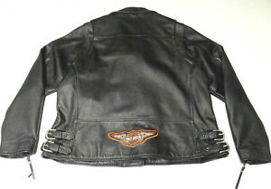 HARLEY DAVIDSON MADE IN USA 'INDEPENDENCE' LEATHER JACKET WOMENS 1W 18-20    173