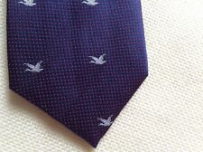 YVES SAINT LAURENT Navy and Red Polka Dot Silk Tie  Made In Italy $150