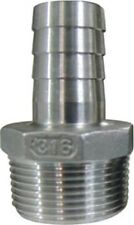 """Hose Tail Barb Fitting 3/4"""" Barb x 3/4"""" Male NPT Stainless Steel 316"""