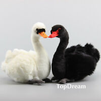 Realistic Swan Furry Plush Stuffed Simulated Animal Doll 10in Cuddly Baby Toys