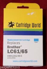 Cartridge World Replaces Brother LC61/65 CYAN Replacement Ink Cartridge