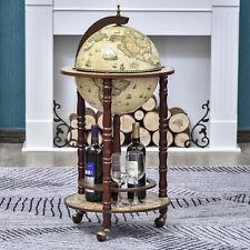 Globe Retro Style Mini Bar Drink Cabinet Mobile Wine Alcohol Beverage Trolley
