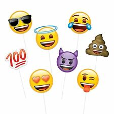 8 Emoji Emoticons Children's Birthday Party Fun Games Photo Booth Props