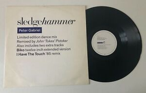 """12"""" PETER GABRIEL SLEDGEHAMMER 1986 LIMITED EDITION DANCE MIX POTOKER VIRGIN UK"""