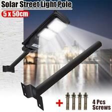 50CM Mounting Pole for LED Solar Power Wall Street Light Outdoor Lamp Black