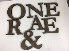 Foam Letters Woodgrain Lot Outdoor Advertising Signs Home Decor 6""