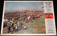 fotobusta originale GUERRA E PACE Herbert Lom (Napoleone) King Vidor 1956
