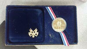 1984-P Proof US Olympic Gold Ten Dollar Commemorative Box and COA