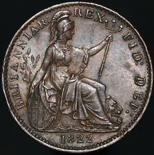 More details for 1822 | george iiii farthing 'd over d in def' | copper | coins | km coins