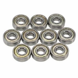 10pcs 608ZZ Ball Bearing 608Z Deep Groove Ball Bearing 8mm*22mm*7mm Silver